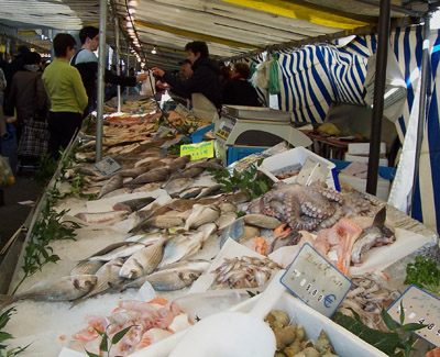 Seafood at the market