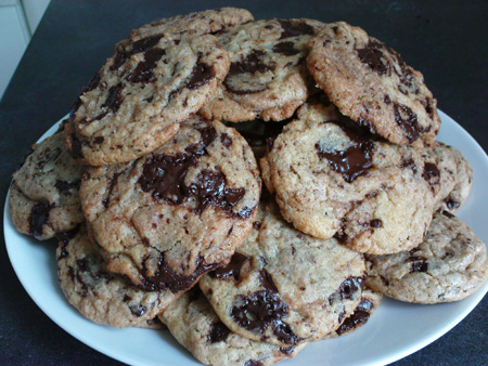The plate of cookies before being devoured by my neighbors