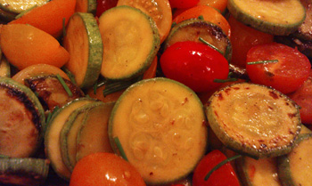 Tomatoes and zucchini - a match made in heaven