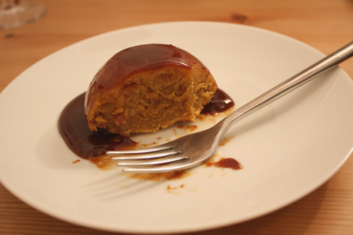 Pumpkin Sticky Toffee Pudding