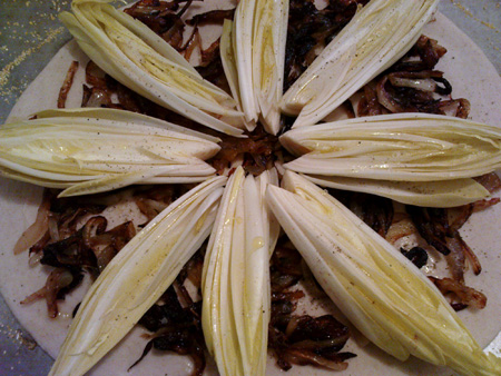 Endive pizza - before