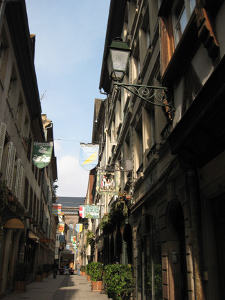 "One of the four ""Carré d'Or"" streets in Strasbourg"