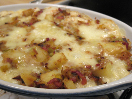 Potatoes, bacon, and cheese - the prefect dish?