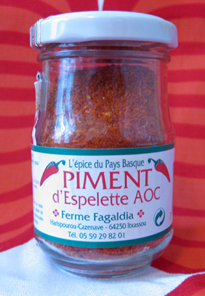 Piment d'Espelette in its dried, ground, jarred form