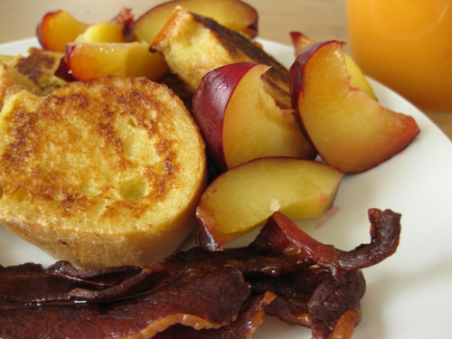 Shilling French Toast with Plums
