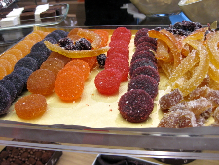 Pâtes de fruits and candied fruits at Fouquet