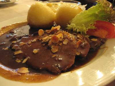 sauerbraten & potato dumplings